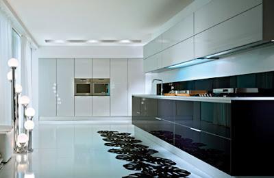 Moderne hoogglans witte keuken met een granieten aanrechtblad moderne car interior design - Deco witte keuken ...