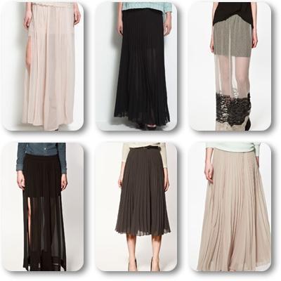 Faldas largas