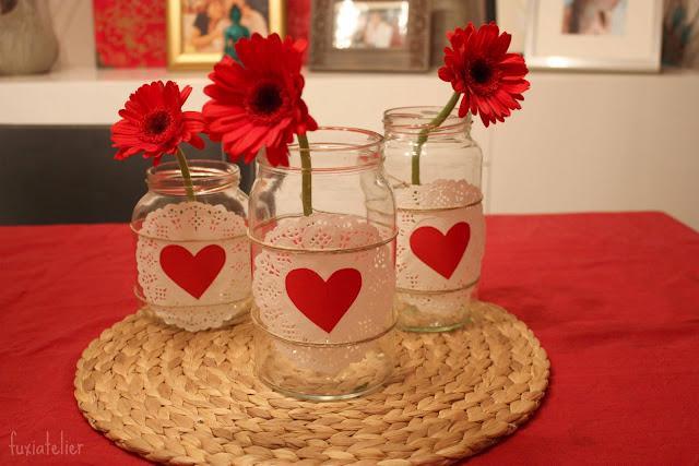 Diy centros de mesa con tarros de vidrio paperblog - Mesa de centro vidrio ...
