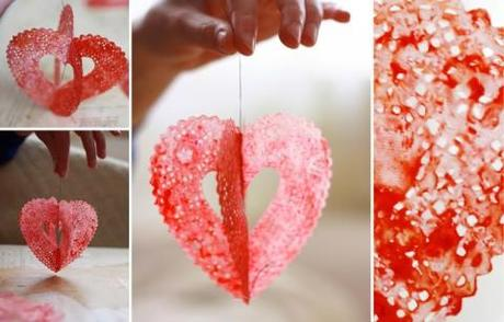 Burbujas enamoradas: corazones de papel