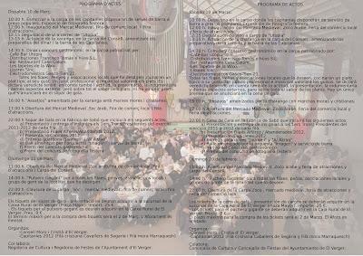 El Verger. Mig Any de Moros i Cristians 2012 - Mercado Medieval