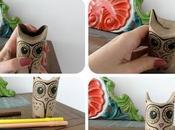 Buhos decorativos rollos papel