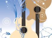 Hermoso Guitarras Vectores