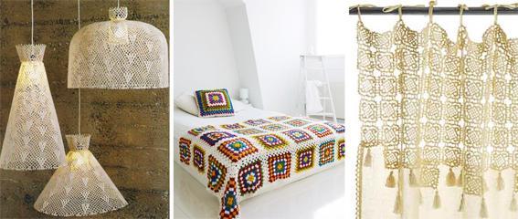 Crochet una tendencia que invade los textiles del hogar for Decoracion del hogar con crochet