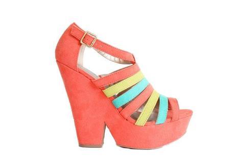 zapato coral de plataforma