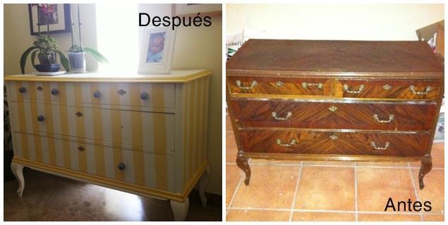 Antes y despu s la c moda de isabel paperblog - Tunear muebles viejos ...