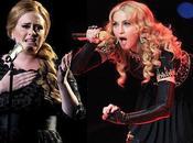 Madonna, sale defensa Adele