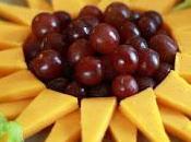 Girasoles uvas queso