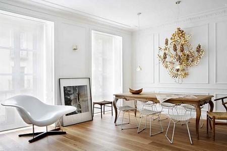 toques de color decoración teselas en la cocina sillas de diseño muebles de diseño Iconos del diseño escandinavo estilo nórdico españa diseño nórdico diseño de muebles nórdico diseñadores de interiores españoles decoración mid century modern cocinas blancas aparador estilo nórdico danés