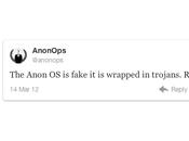 Anonymous dice supuesto 'sistema operativo' falso tiene troyanos