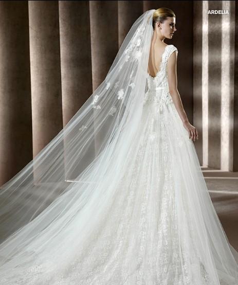 vestidos de novia sin cola y velo largo – vestidos de boda