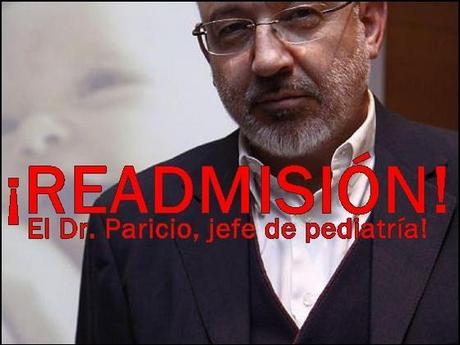 Readmitir al Dr. Paricio