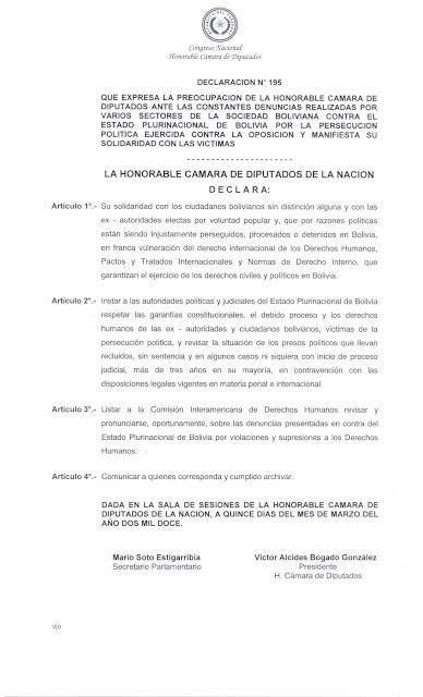Respeto a los derechos humanos en Bolivia!!