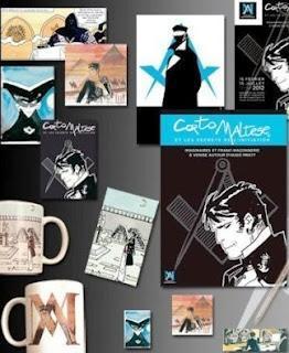 """Galería fotográfica de """"Corto Maltés y la Iniciación"""" y """"Masones en el cómic"""" de Ricardo Serna"""