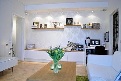 Un sal n en blanco y madera paperblog for Salon blanco y madera
