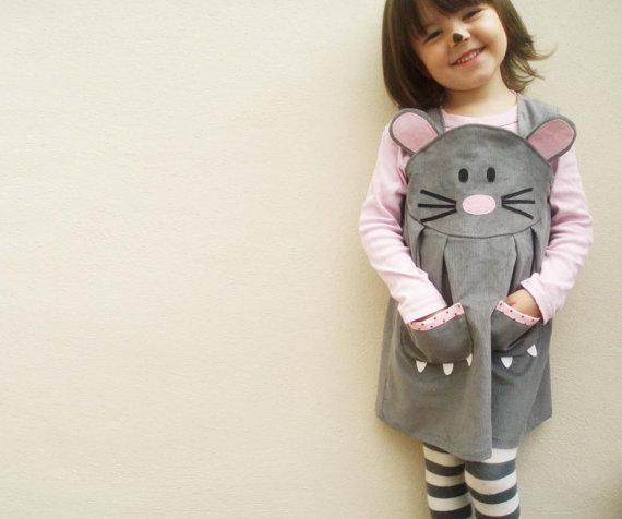 vestido ratoncita hecho a mano para niñas