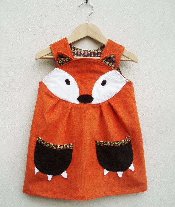 vestido de zorrito para niña