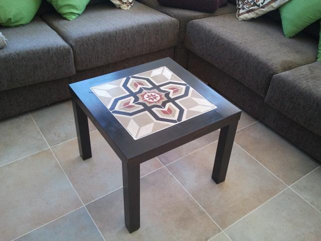 Ikea hack la mesa lack con baldosas hidr ulicas de eva paperblog - Mesa lack ikea medidas ...