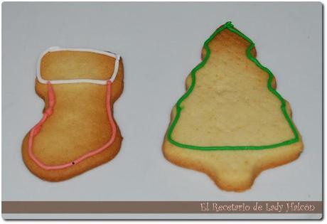 Galletas navideñas decoradas con glasa real