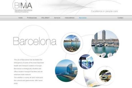 Imagen de la página web del proyecto BIMA.
