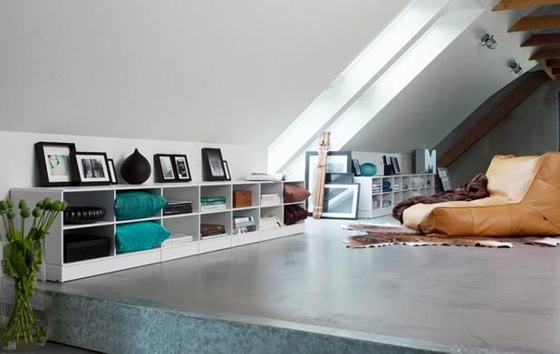 Muebles bajos para una buhardilla paperblog - Buhardillas de diseno ...