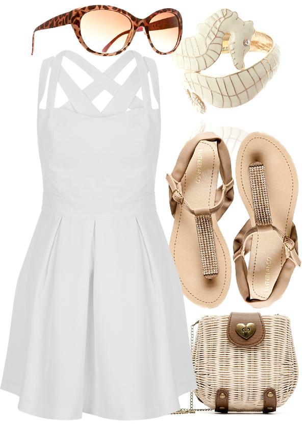 stunning outfit vestido blanco playa y