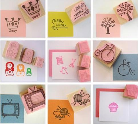 Estampa con sellos caseros paperblog for Como hacer sellos