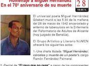 Homenaje Miguel Hernández aniversario muerte